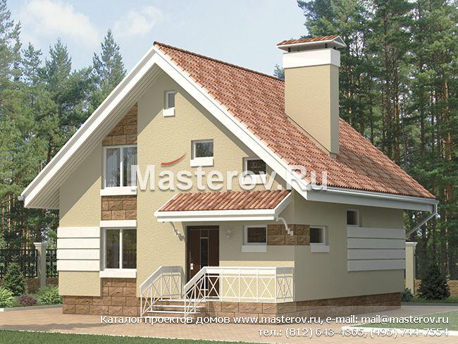 Проект дома из керамзитобетона отличается лаконичностью внешнего вида и сбалансированностью планировки