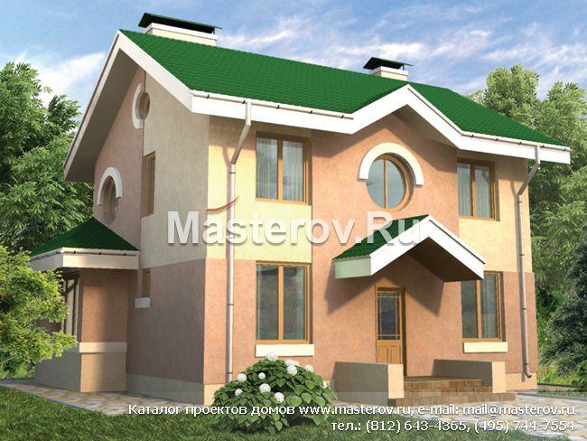 Проект пенобетонного дома № c 139 1p