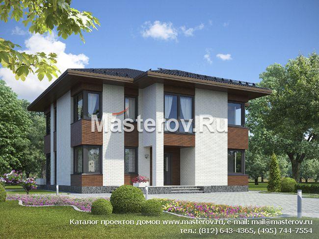 Двухэтажный дом из газобетона G-221-1P
