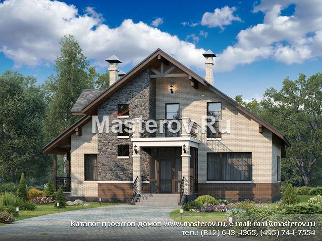 проекты кирпичных домов с эркерами фото