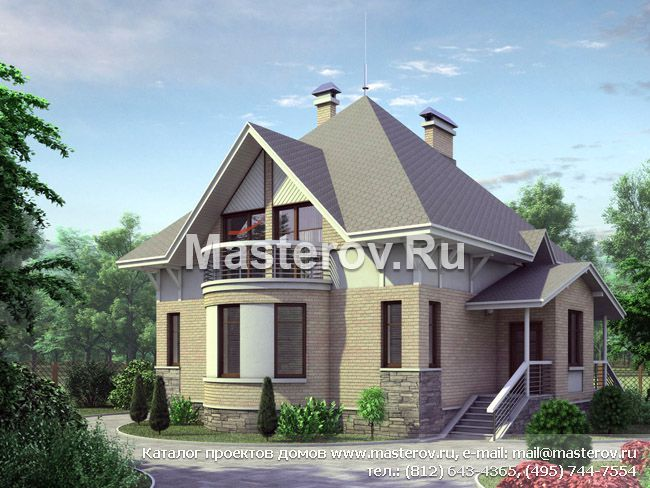 Проект дома 2 этажа мансарда