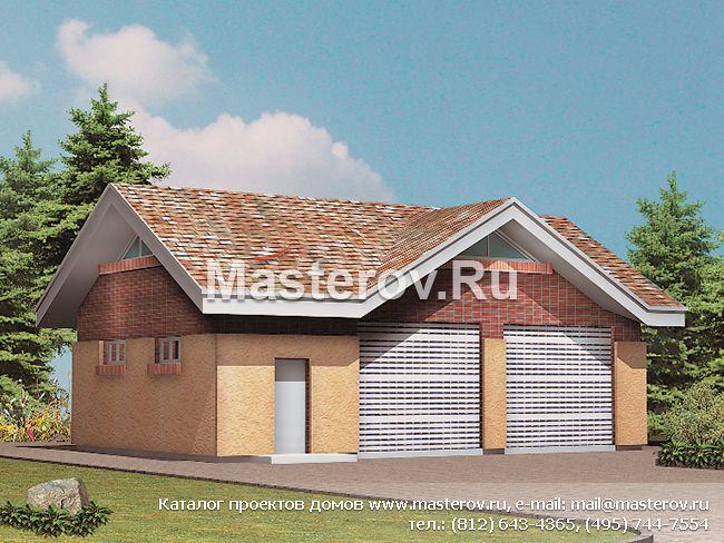 Проект гаража на 2 машины № t 076 1k сб 07 05