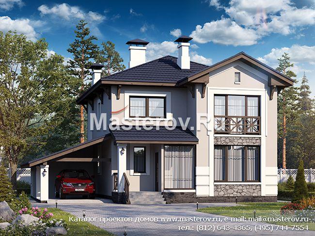 дома двухэтажные с гаражом фото