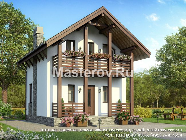 Проекты домов с мансардой - Мансардные коттеджи