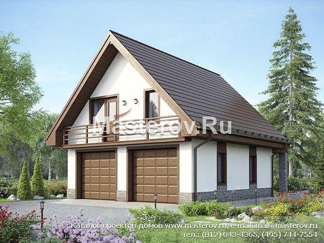 Проект гаража на две машины № u 149 1k