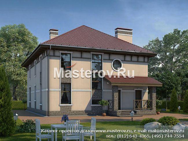 Красивый загородный дом из газобетона U-231-1P. Купить проект дома